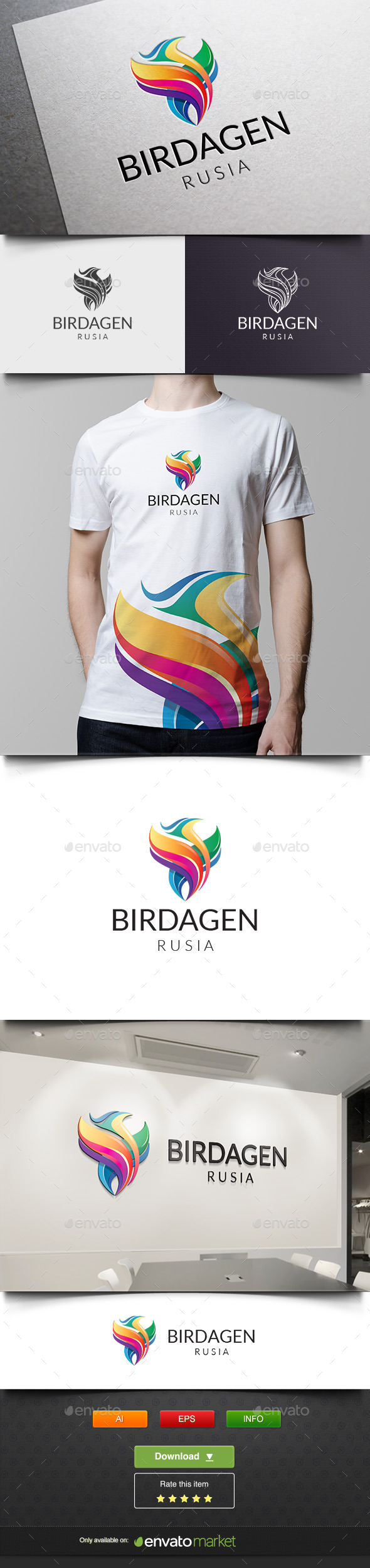 Bird Media Agency - Animals Logo Templates
