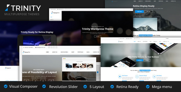 Trinity – 5 Creative Layouts Multipurpose WP Theme