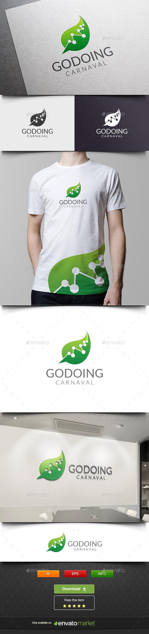 Leaf Molecule - Nature Logo Templates