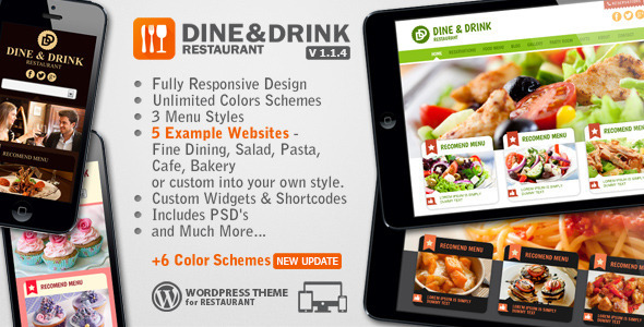 Dine & Drink – Restaurant WordPress Theme