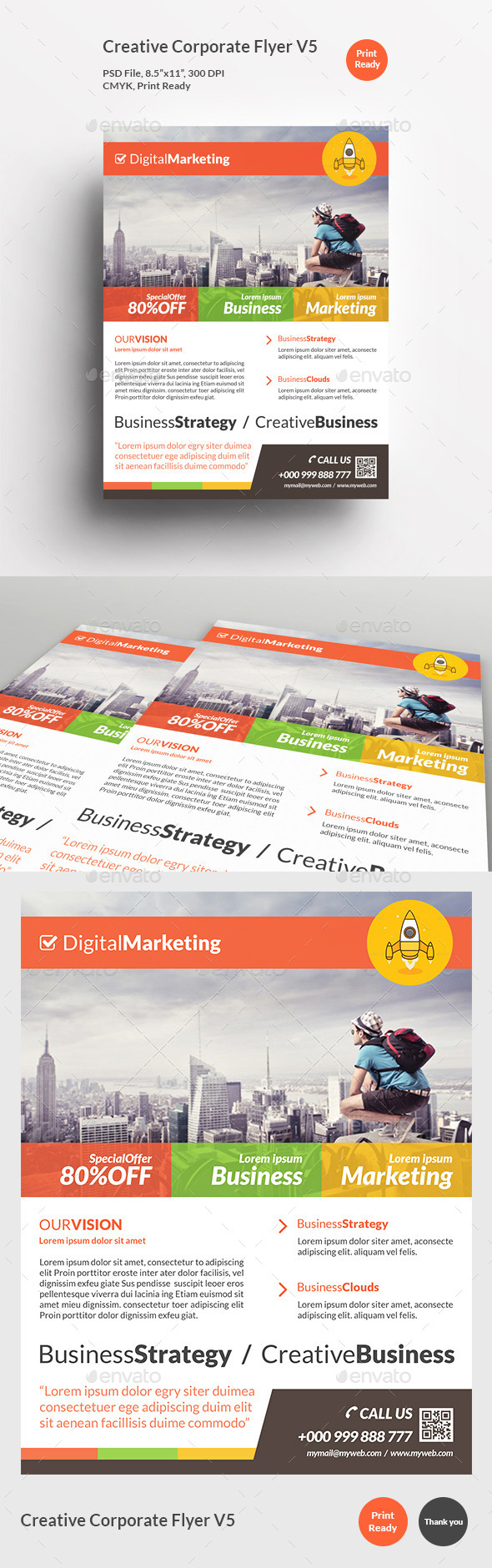 Creative Corporate Flyer V5 - Corporate Flyers
