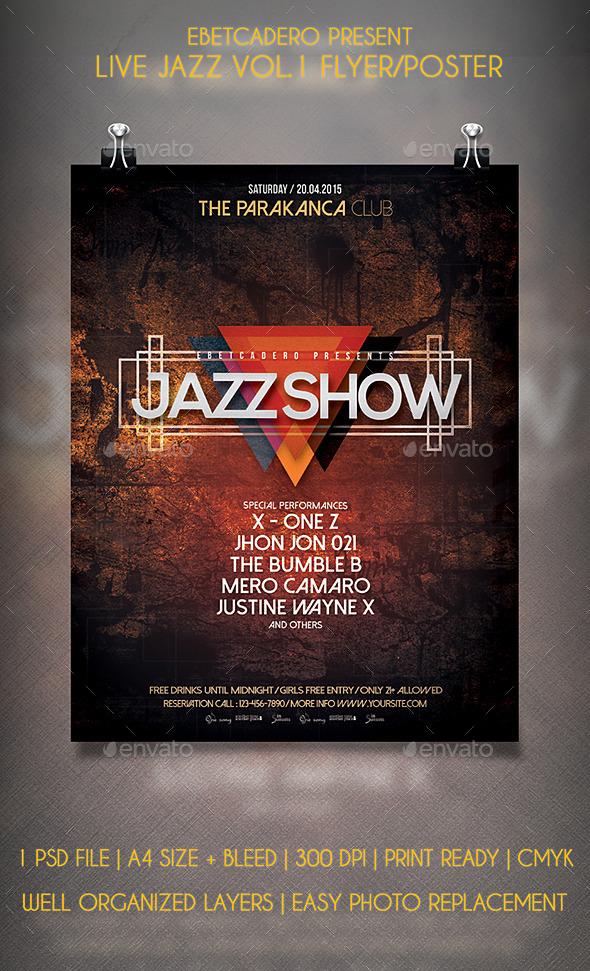 Live Jazz Flyer / Poster Vol.1 - Events Flyers