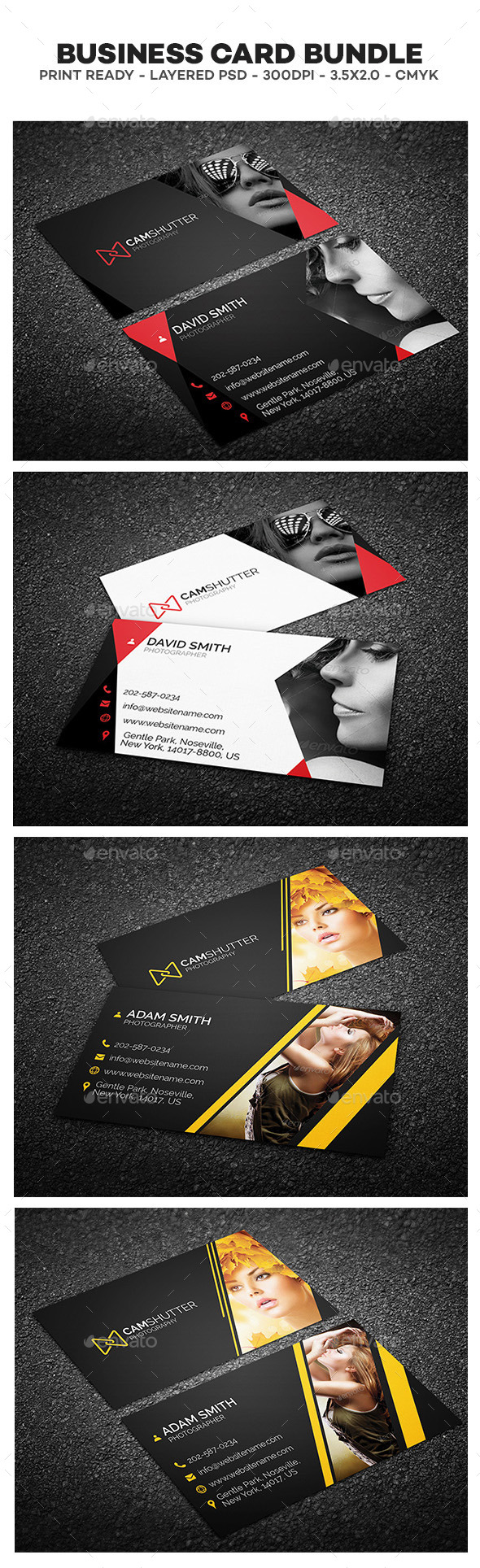 Photography Business Cards Bundle - Creative Business Cards