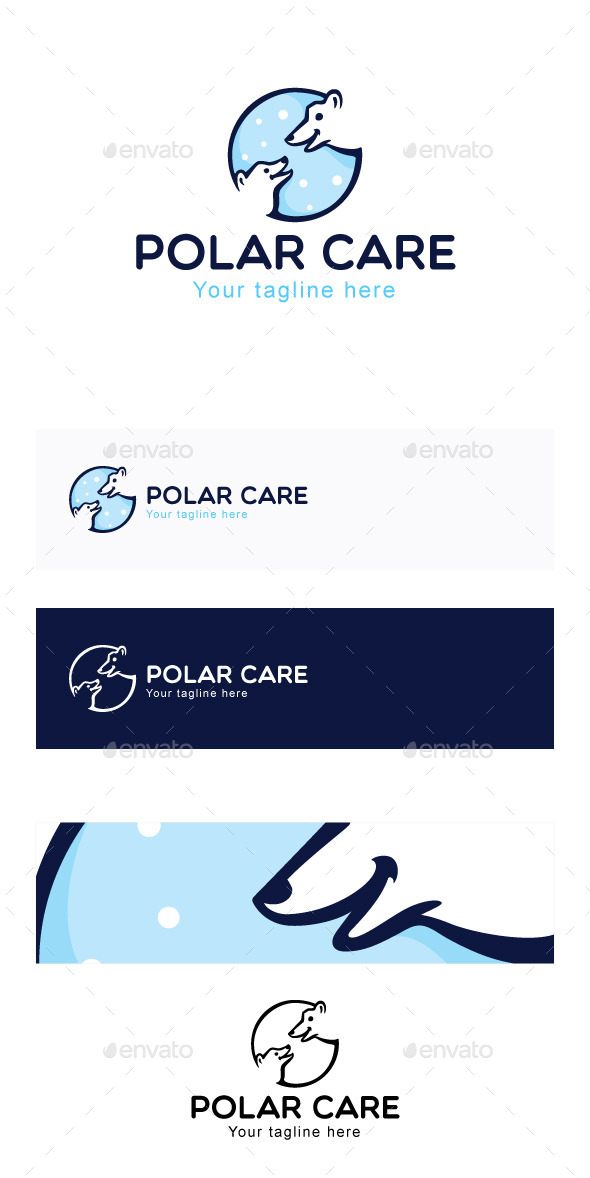 Polar Care Stock Logo Template - Animals Logo Templates