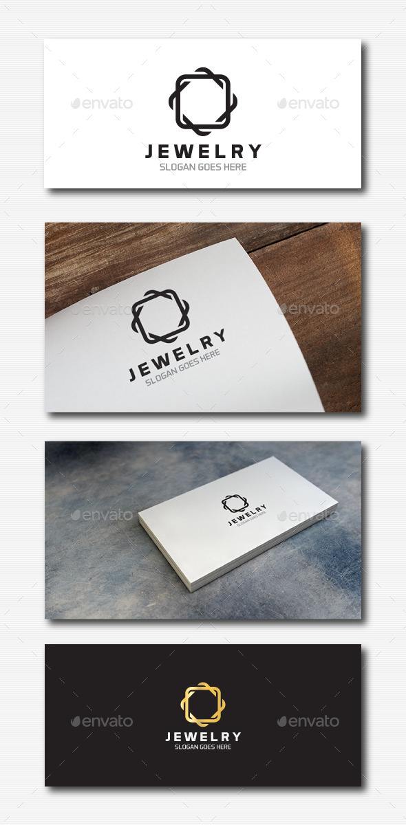 Square Jewelry Logo - Abstract Logo Templates