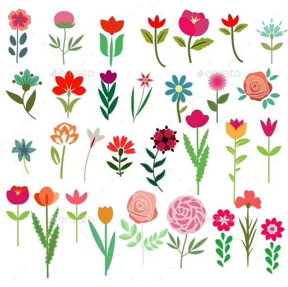 Flowers Set - Seasons Nature