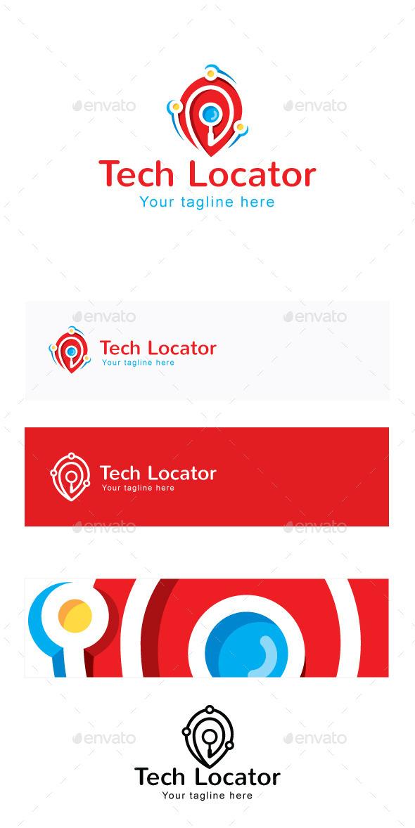 Tech Locator Stock Logo Template - Symbols Logo Templates
