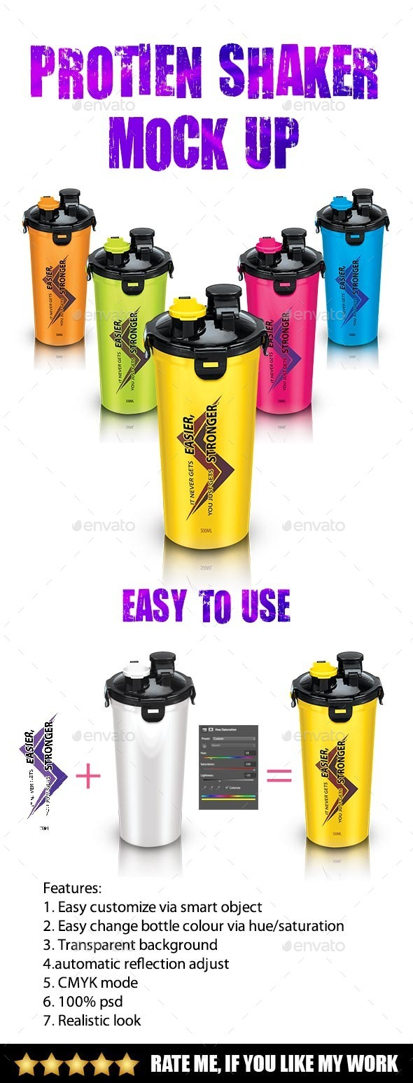 Protein Shaker - Product Mock-Ups Graphics