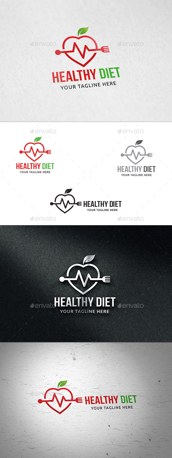 Healthy Diet - Logo Template - Nature Logo Templates