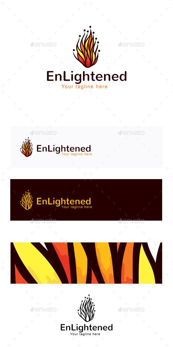 Enlightened Stock Logo Template - Humans Logo Templates