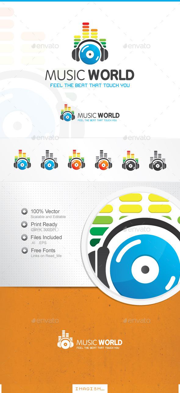 Music World Logo - Symbols Logo Templates
