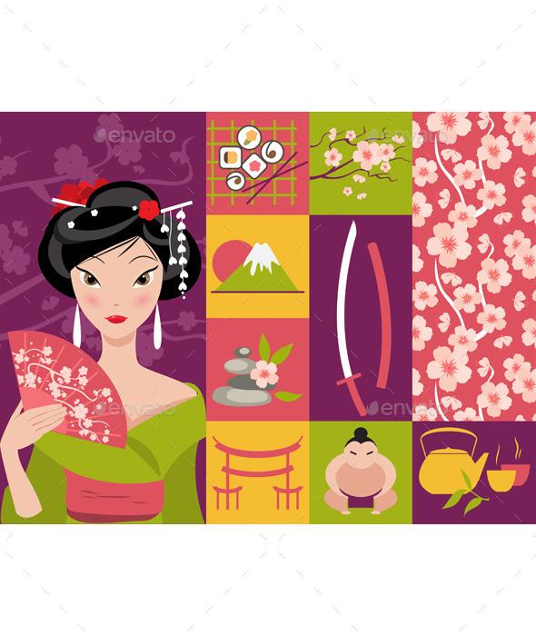 Symbol of Japan - Travel Conceptual