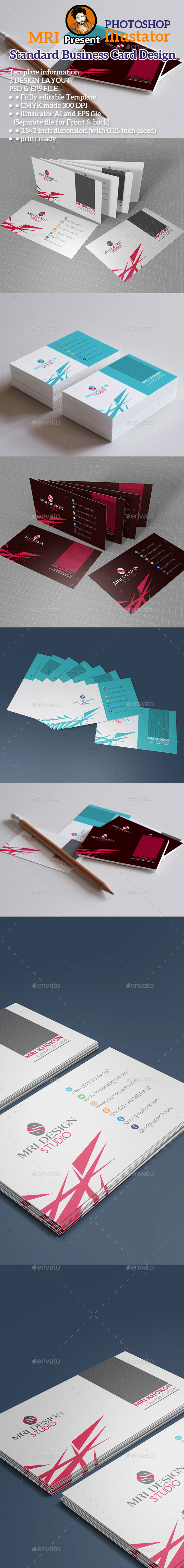 Standard Business Card - Business Cards Print Templates