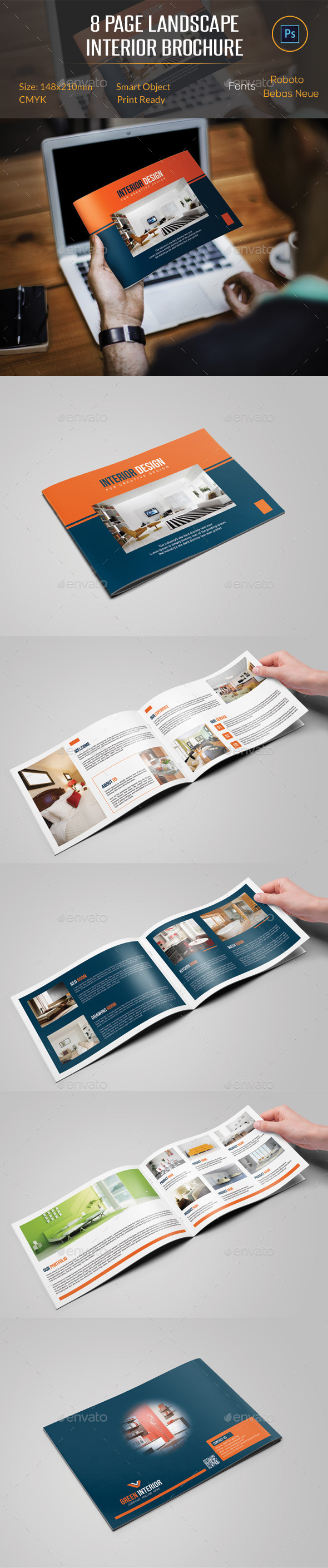 8 Pages Landscape Interior Brochure - Catalogs Brochures