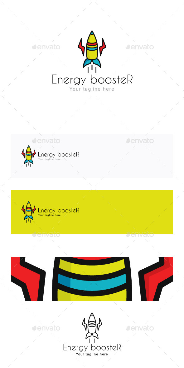 Energy boosteR Stock Logo Template - Objects Logo Templates