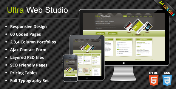 Free Download UltraWebStudio - Responsive Multipurpose HTML Theme Nulled Latest Version
