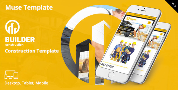 Builder | Construction Muse Template - Corporate Muse Templates