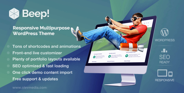 Beep! — Responsive Multi-Purpose WordPress Theme