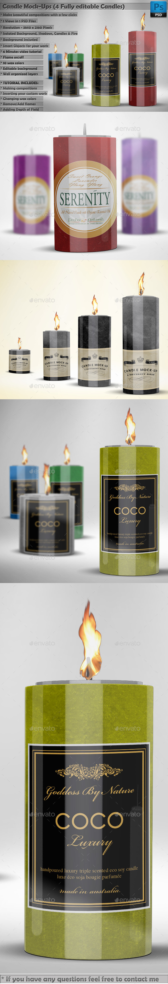 Candles Mockups - Miscellaneous Packaging