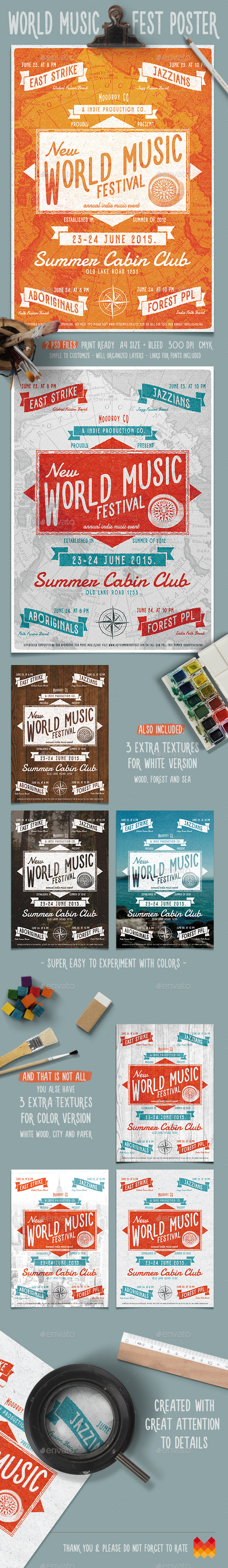 World Music Fest Flyer/Poster - Events Flyers