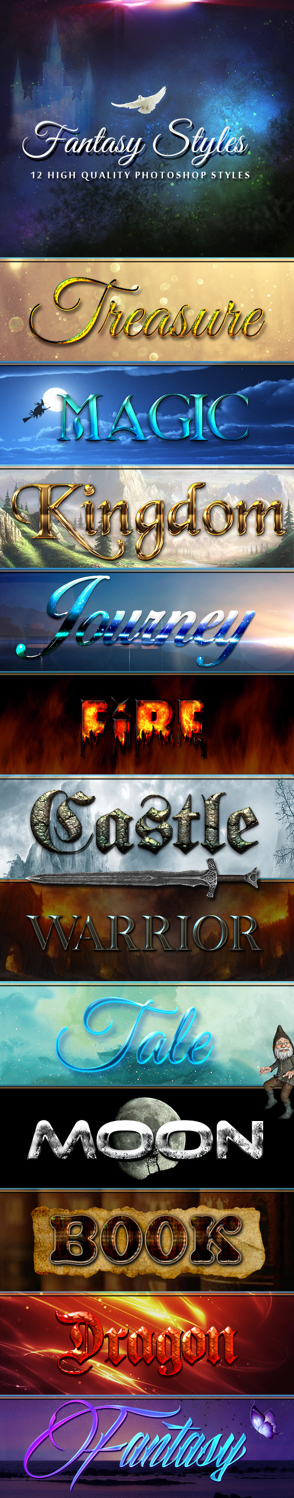 12 Fantasy Styles - Text Effects Styles