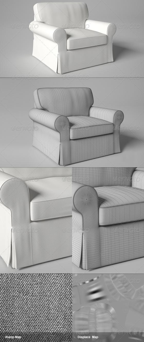 Ektorp IKEA Chair - 3DOcean Item for Sale
