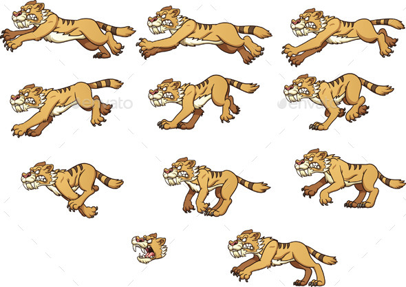 Saber Tooth Tiger - Animals Characters