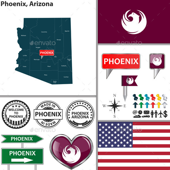 Phoenix, Arizona - Travel Conceptual