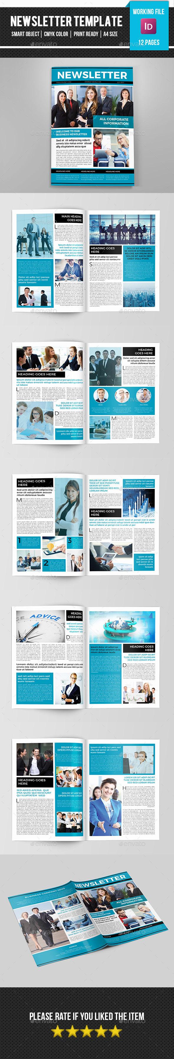Corporate Newsletter-V08 - Newsletters Print Templates