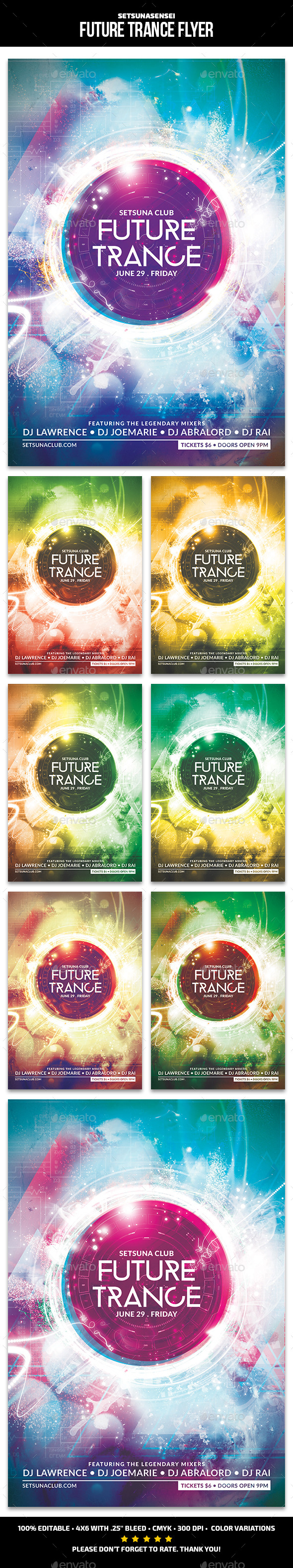 Future Trance Flyer - Clubs & Parties Events