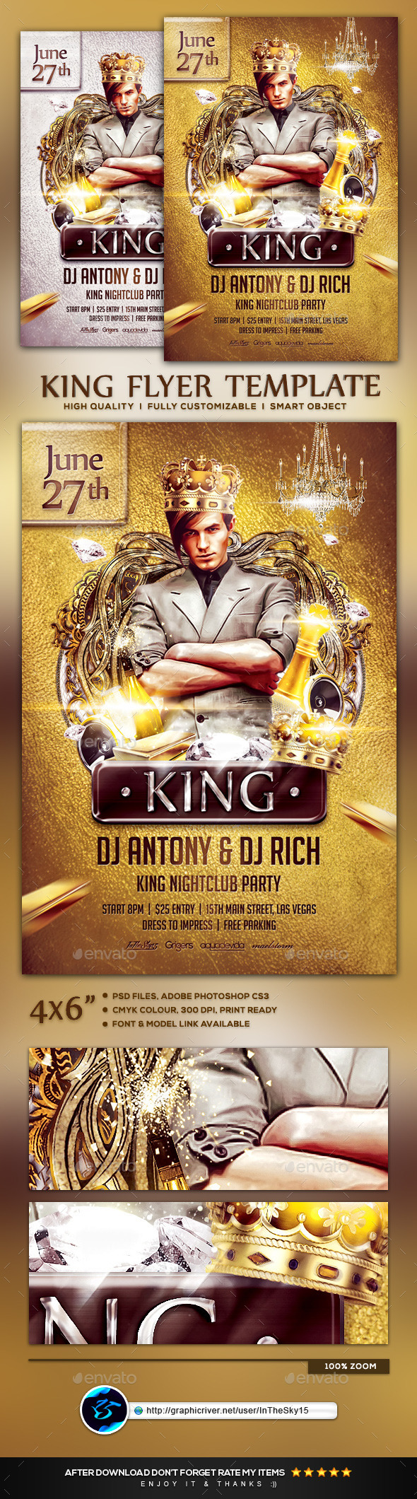 King Flyer Template - Flyers Print Templates