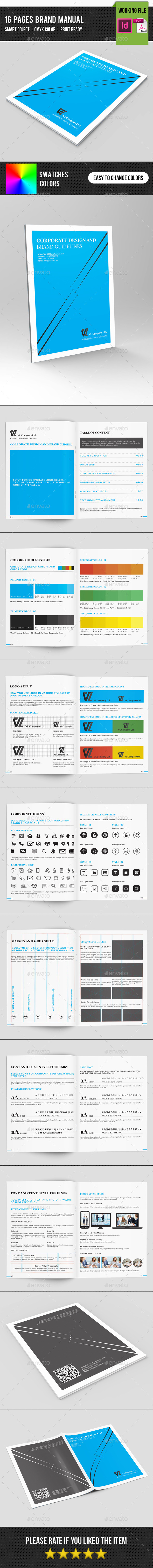 Brand Manual Template-V01 - Corporate Brochures