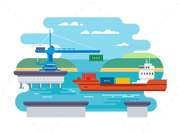 Cargo Freight Shipping by Water - Industries Business