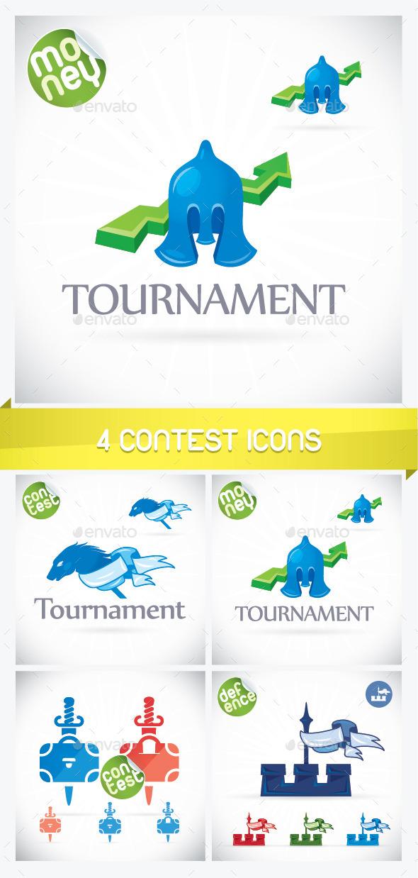 Four Contest Icons - Miscellaneous Conceptual