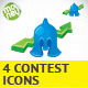 Four Contest Icons - GraphicRiver Item for Sale