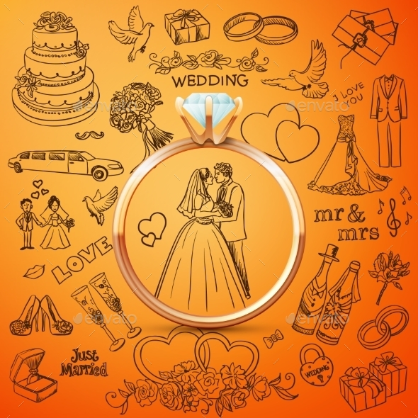 Collection of Decorative Wedding Designs - Weddings Seasons/Holidays