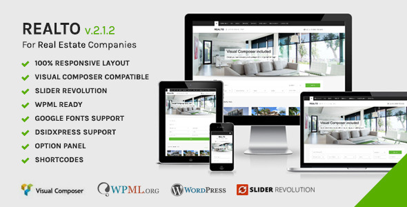 Realto – WordPress Theme for Real Estate Companies