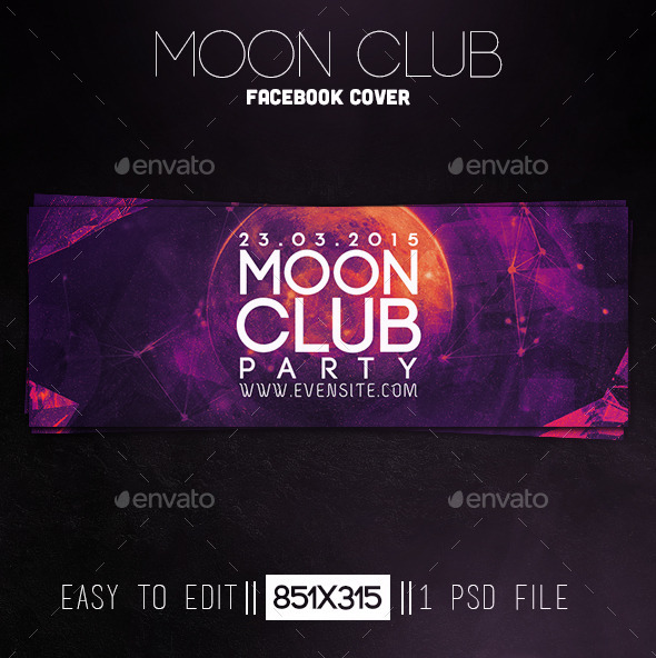 Moon Club Party Facebook Cover - Facebook Timeline Covers Social Media