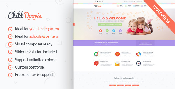 Child Dooris – Kindergarten & School WordPress Theme