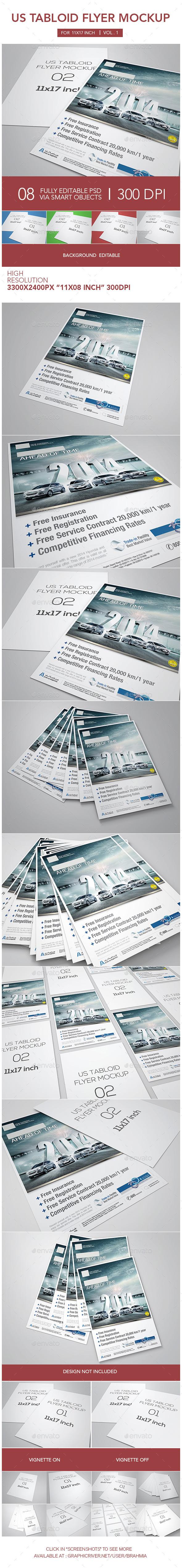 Tabloid Flyer Mockup - Flyers Print