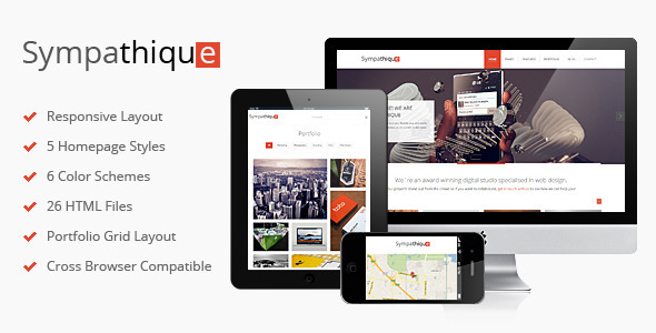 Html Responsive Template | Sympathique Responsive Html Template By Deliciousthemes Themeforest