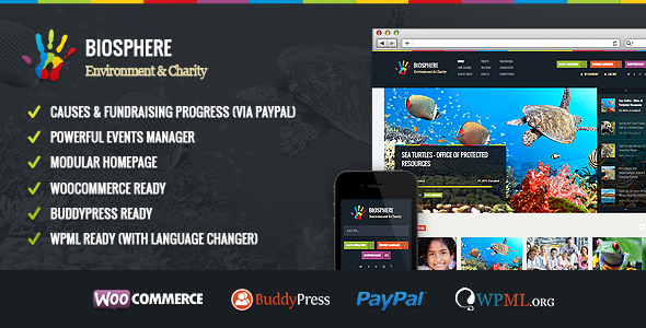 Biosphere – Environmental & Charity WP Theme