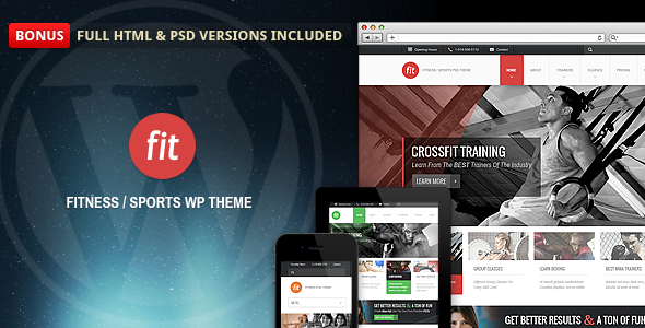 FIT – Fitness/Gym Responsive WordPress Theme