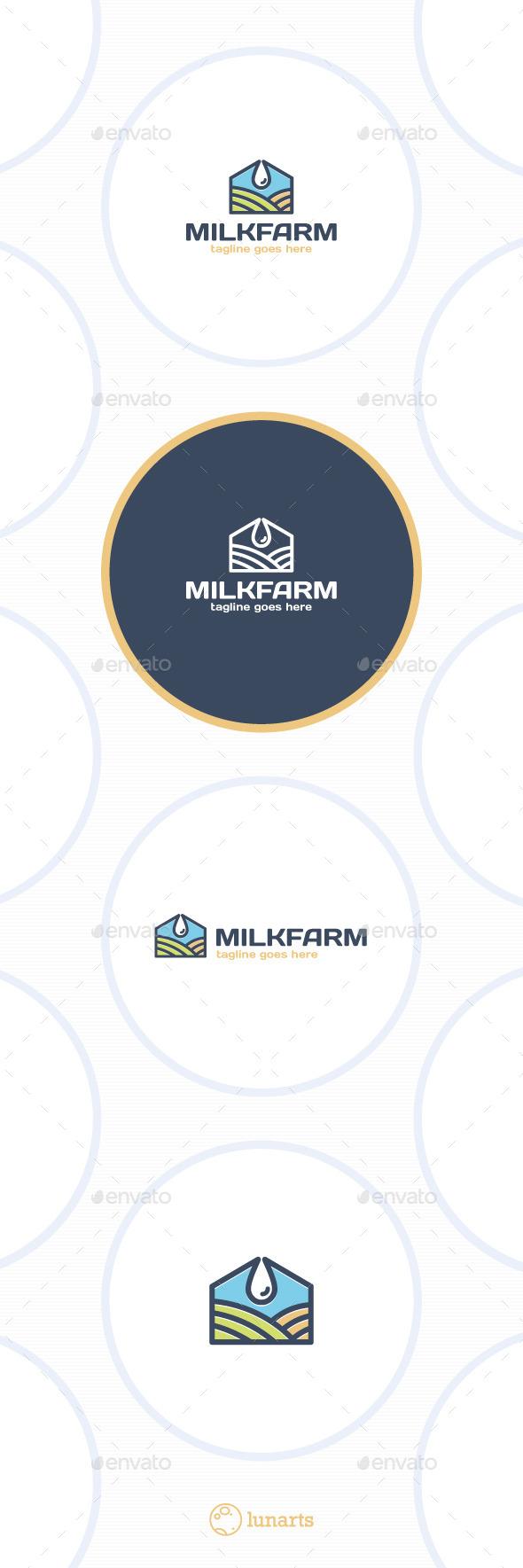 Milk Farm Logo - Nature Logo Templates