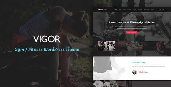 Vigor – Gym/Fitness WordPress Theme