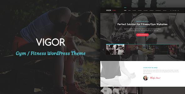 Vigor - Gym/Fitness WordPress Theme - Health & Beauty Retail