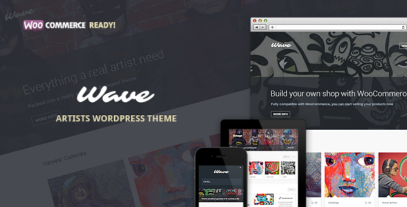 Wave - WordPress Theme for Artists - Art Creative