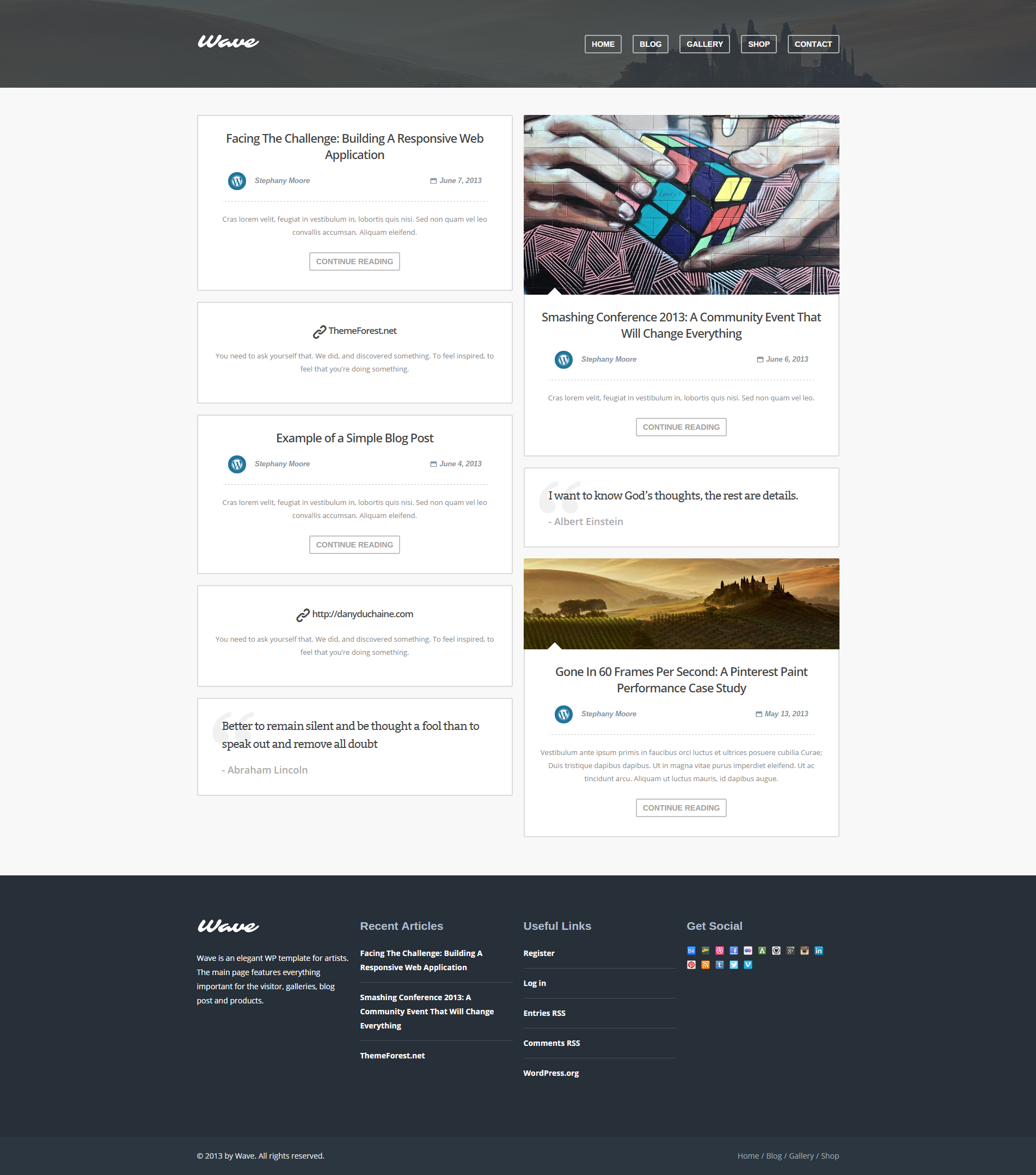 WordPress Theme For Artists By DanyDuchaine