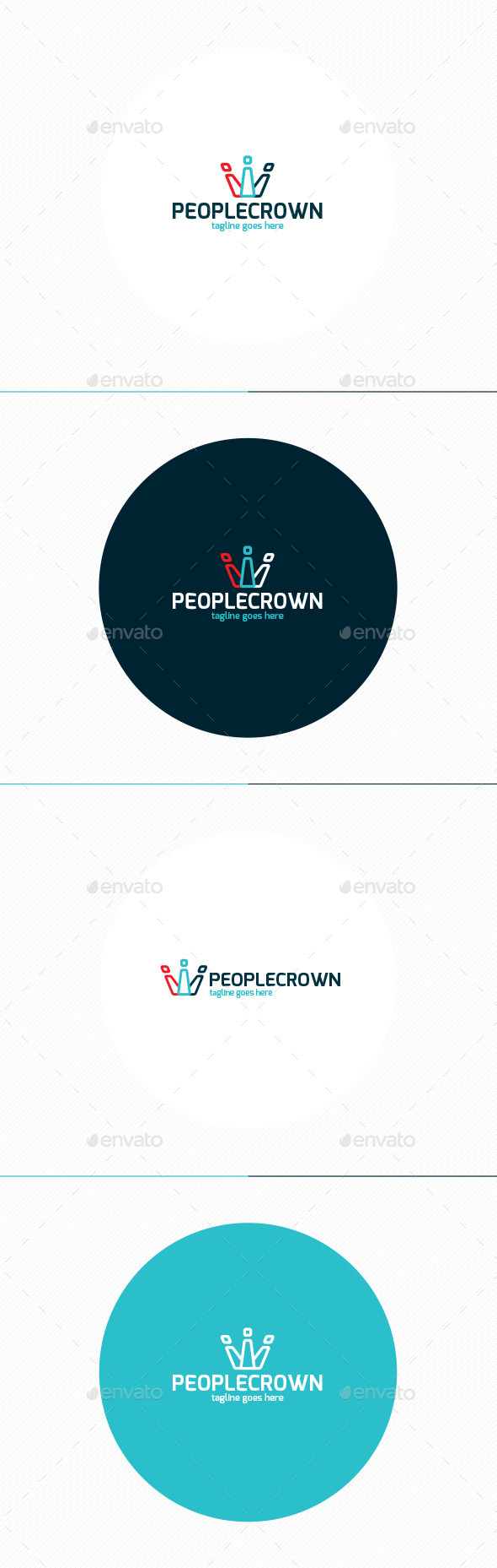People Crown Logo - Symbols Logo Templates