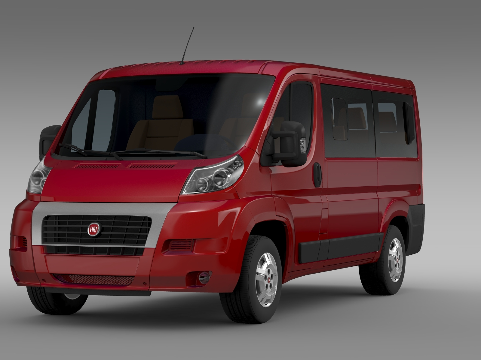 fiat ducato mini bus l1h1 2006 2014 by creator 3d 3docean. Black Bedroom Furniture Sets. Home Design Ideas